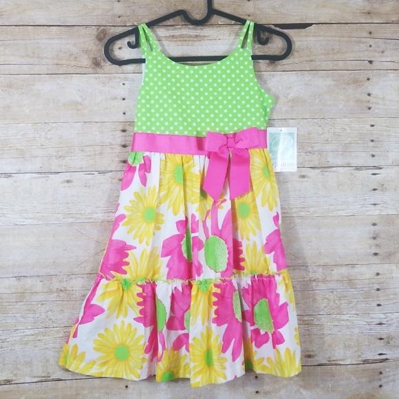 5d7c6faa6fa NWT Bonnie Jean girls floral dress size 8